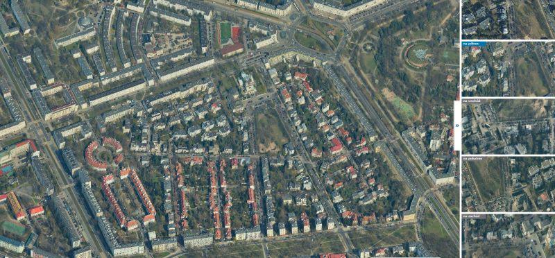Zdjęcia ukośne Warszawy