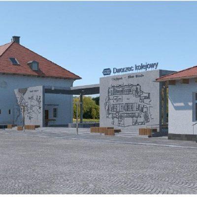 Olsztynek dworzec PKP