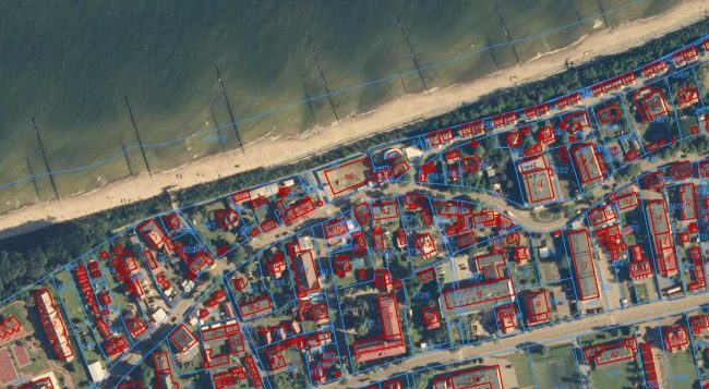 Ustronie Morskie   fot. Geoportal.gov.pl