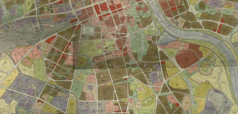 Warszawa: Wycinek z planu ogólnego z roku 1982
