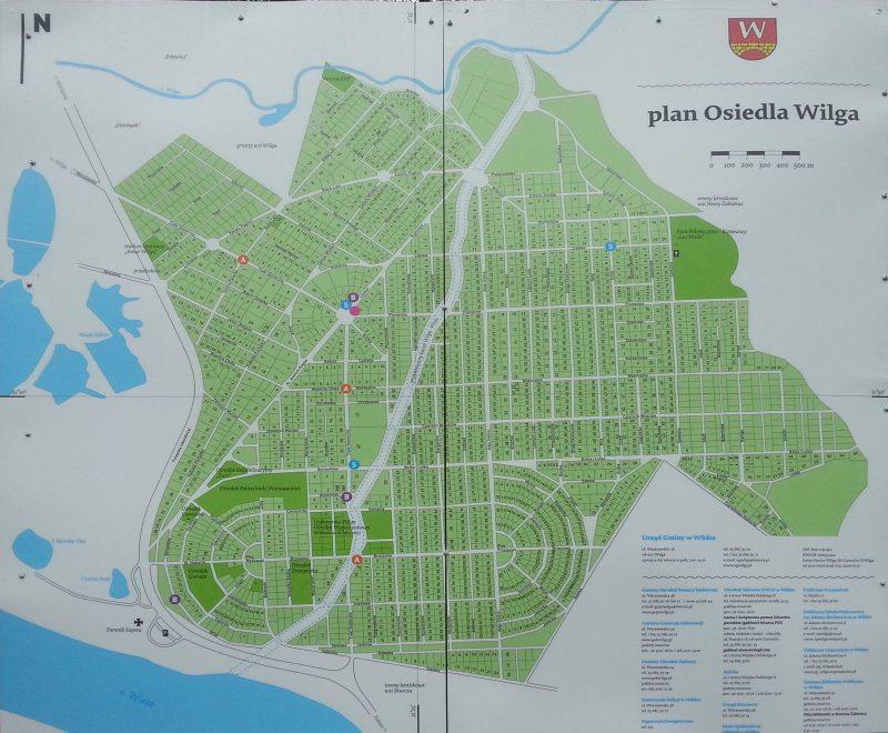 Aktualny plan osiedla Wilga
