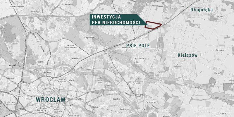 Lokalizacja planowanego osiedla Mieszkanie Plus we Wrocławiu