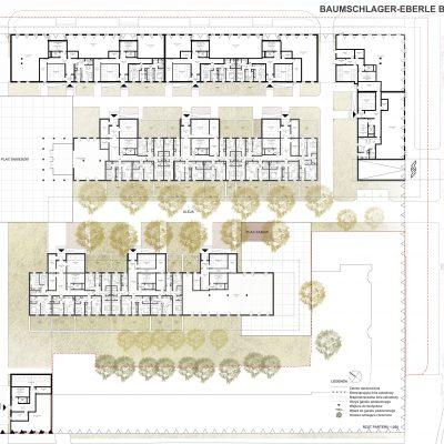 Wizja dla osiedla Mieszkanie Plus przy ulicy Ratuszowej w Warszawie | wiz. BE DDJM Architekci | za: PFR Nieruchomości