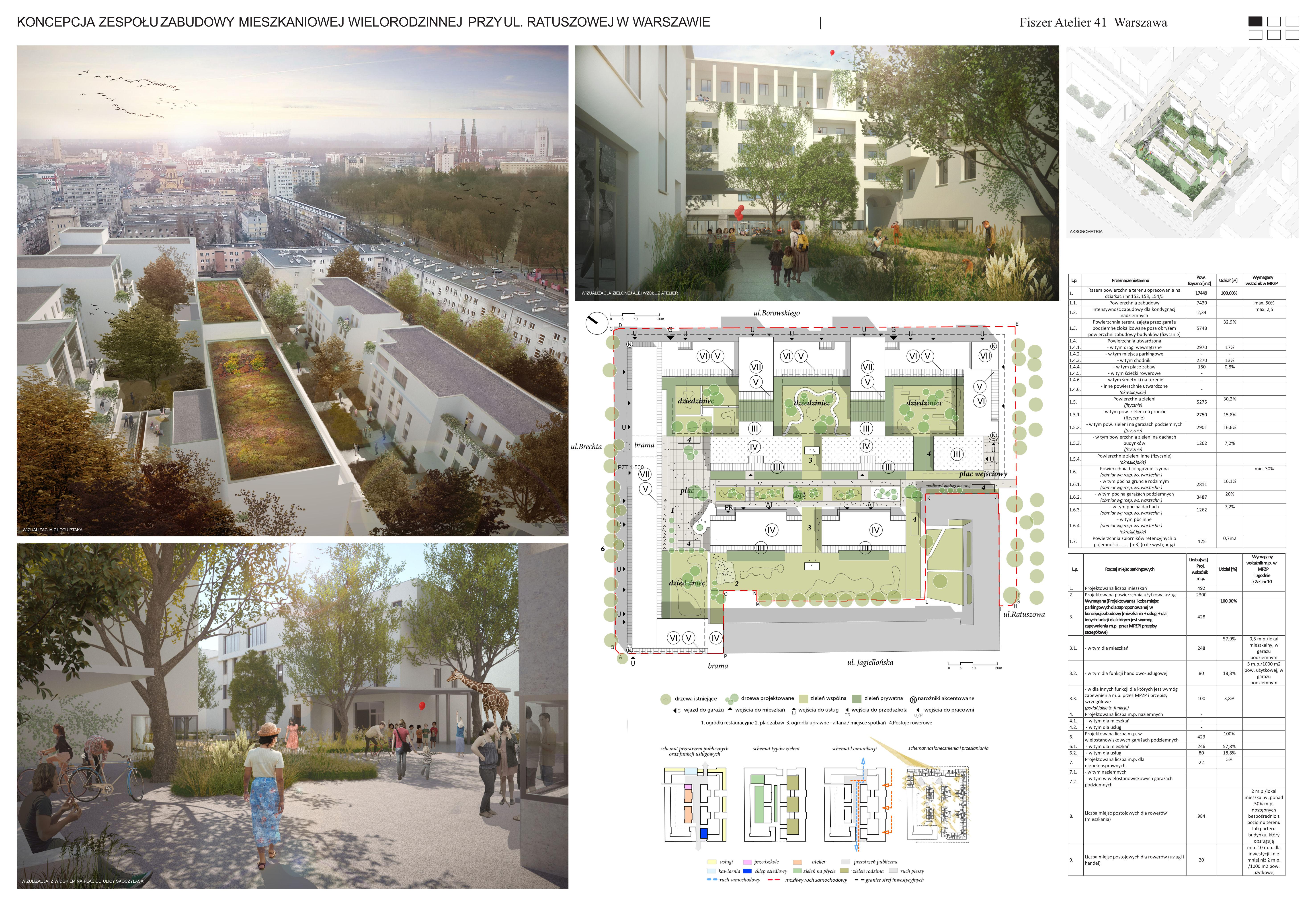 Warszawa Ratuszowa Fiszer Atelier Plansza 1