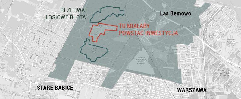 Inwestor chciałby zrealizować inwestycję w środku lasu Bemowo