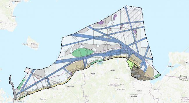 Wycinek z planu zagospodarowania wód morskich