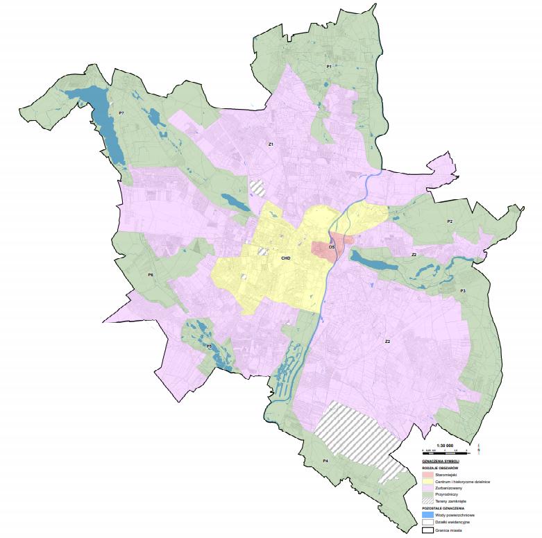 Podział na strefy w poznańskiej uchwale krajobrazowej