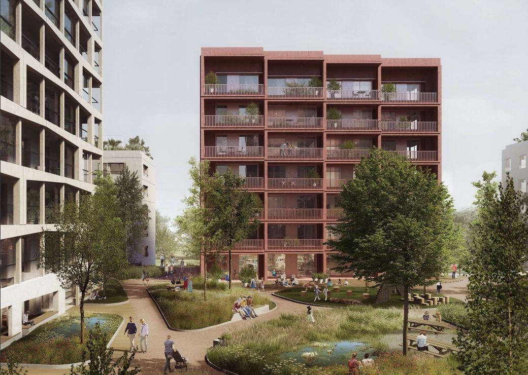 Planowane osiedle na Służewcu Przemysłowym w Warszawie   fot. materiały inwestora z wniosku w ramach specustawy mieszkaniowej