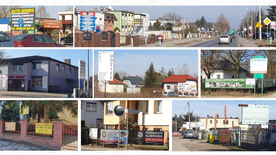 Reklamy w gminie Mosina