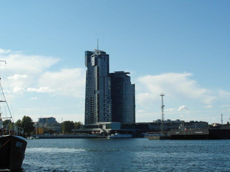 Zdjęcie kompleksu Sea Towers w Gdyni