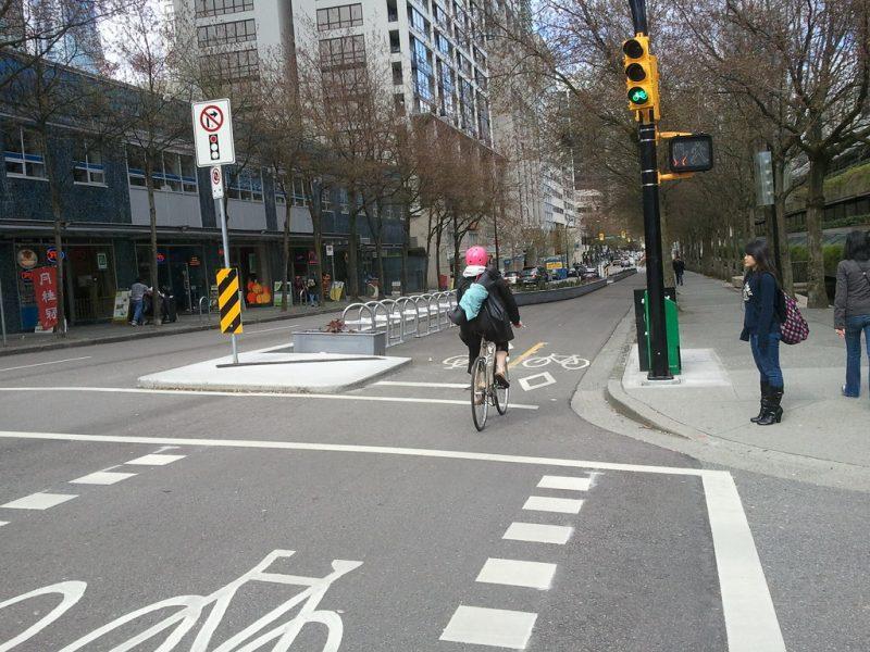 Ścieżka rowerowa w Vancouver
